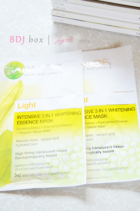 garnier intensive whitening mask