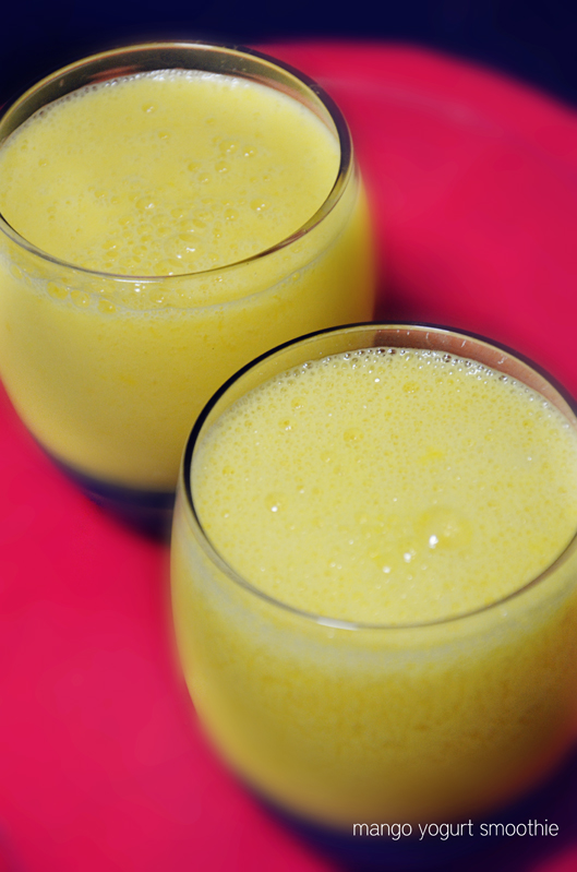 mango yogurt smoothie