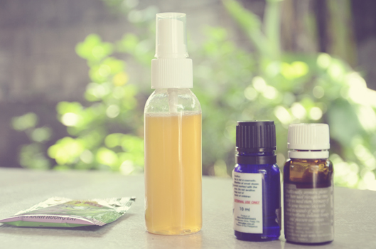 DIY green tea face mist