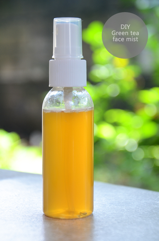 DIY green tea face mist1