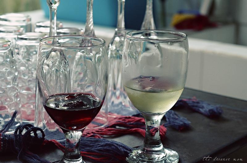red & white wine