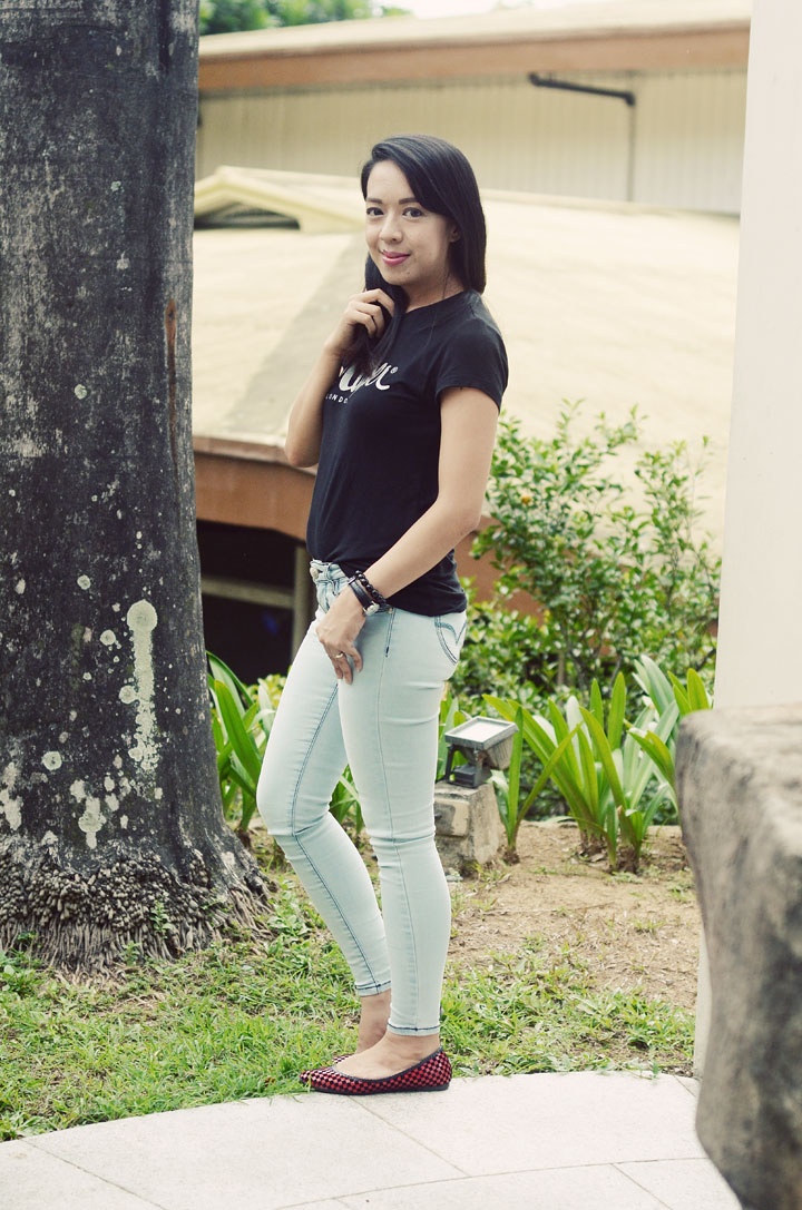 crissa jeans-and- lee cooper shirt