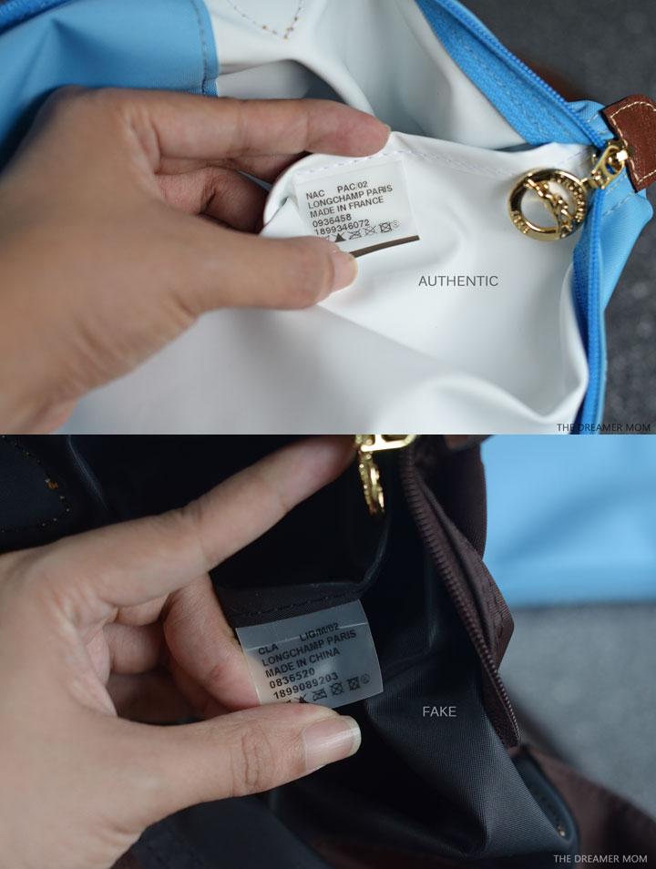 53d25fc0278f How to Check a Real vs. Replica Longchamp Le pliage nylon